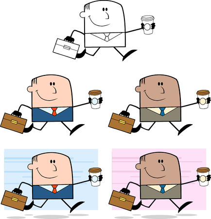 dude: Businessman Dude Cartoon Character 1  Collection Set Illustration
