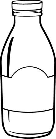 pasteurized: Black And White Cartoon Milk Bottle