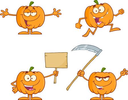 calabaza caricatura: Calabaza mascota de la historieta de la serie de juego de caracteres 2 Collection