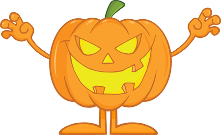 scaring: Scaring Halloween Pumpkin Cartoon Mascot Character