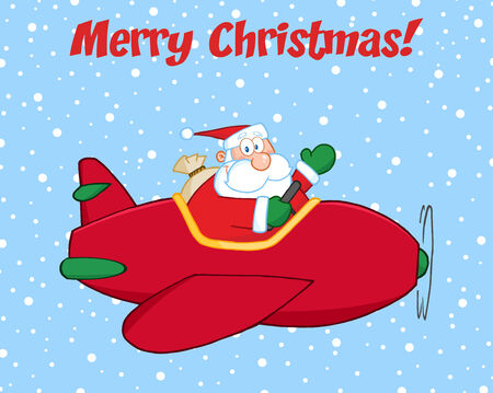 Image result for christmas santa in a plane