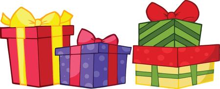 Christmas Gift Boxes. Collection Set