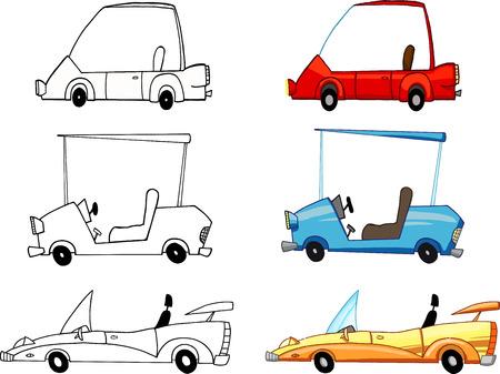 Different Transport Car. Collection Set