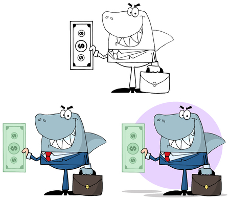 Smiled Business Shark Holding Cash. Collection Set