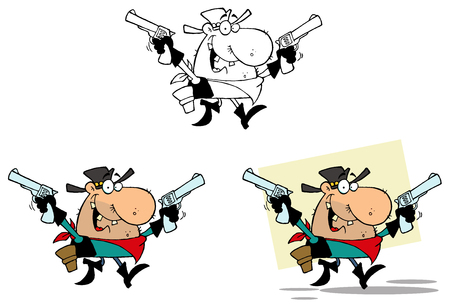 outlaw: Outlaw Cowboy With Two Guns. Collection Set