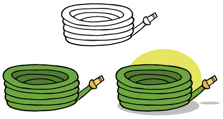 gardening hose: Gardening Tool-Gardening Hose For Water. Collection Set