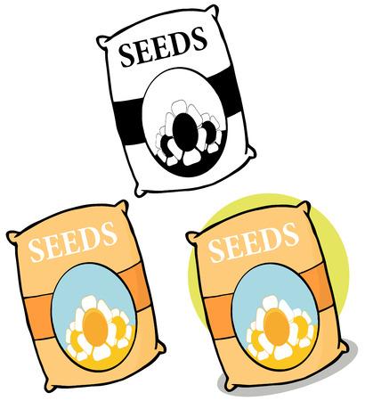 Bag Of Seeds. Collection Set Çizim