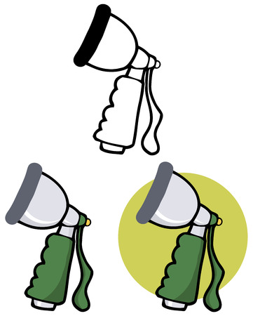 garden hose: Hand Held Hose Spray Nozzle. Collection Set
