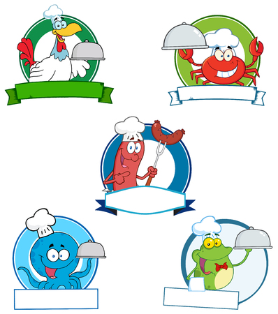 Cartoon Banners. Collection Set Vector