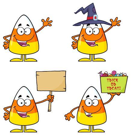 elote caricatura: Pastillas de caramelo de personaje de dibujos animados Conjunto 2. Colecci�n