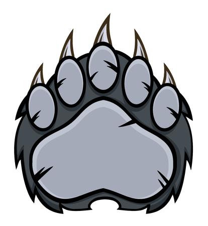 9 835 bear paw stock vector illustration and royalty free bear paw rh 123rf com bear claw clipart Bear Claw Logo