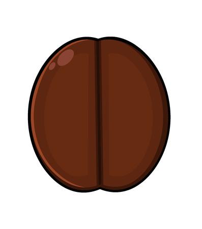 vivacity: Roasted Coffee Bean Cartoon. Illustration Isolated On White