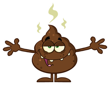 open arms: Happy Funny Poop Cartoon Character With Open Arms Stock Photo