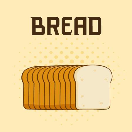 漫画本文パンのパンのポスターのデザイン。イラスト背景 写真素材