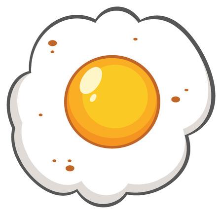 Cartoon Egg. Illustration Isolated On White Background Stock Photo