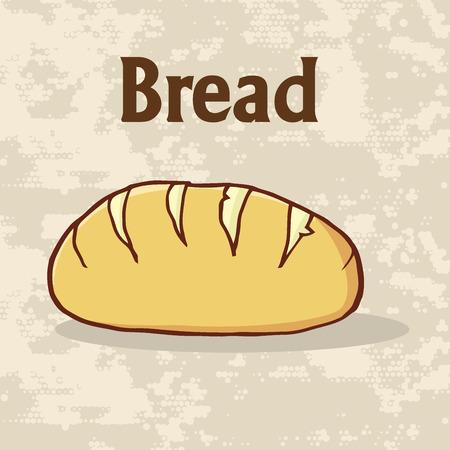 漫画本文斤のパンのポスターのデザイン。イラスト背景