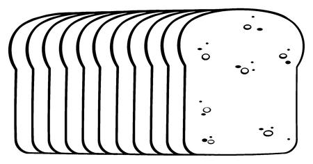 黒と白の漫画パン。白い背景で隔離の図