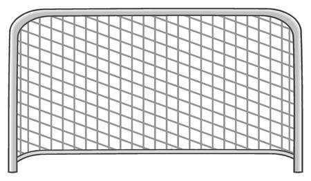 gates: Cartoon Football Gate. Illustration Isolated On White Background