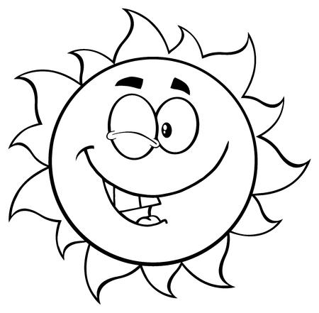 fondo blanco y negro: Negro Y mascota de la historieta Sol Blanco Guiño del personaje. Foto de archivo