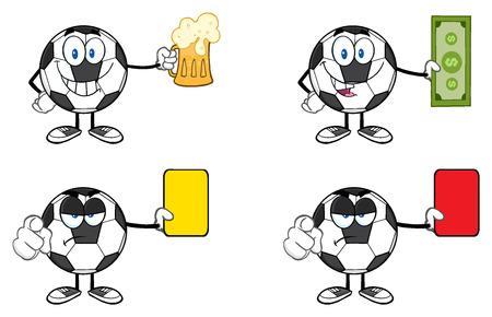 footy: Soccer Ball Cartoon Mascot Character