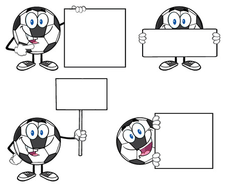 soccer goal: Soccer Ball Cartoon Mascot Character