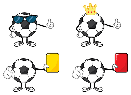 faceless: Soccer Ball Faceless Cartoon Mascot Character Stock Photo