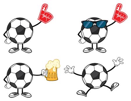 footy: Soccer Ball Faceless Cartoon Mascot Character Stock Photo