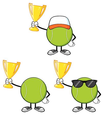 faceless: Tennis Ball Faceless Cartoon Mascot Character