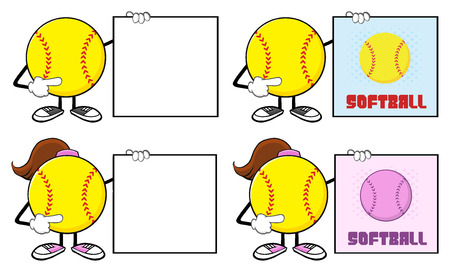 fast pitch: Softball Faceless Player Cartoon Character