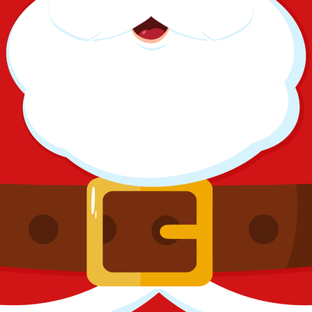 Santa Claus Message Blank Banner. Vector Illustration Flat Design Background Фото со стока