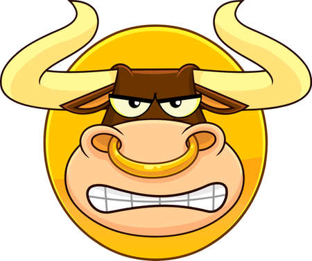 Bull Face Cartoon Character Symbol 2021 Year Of The Ox. Vector Illustration Isolated On Transparent Background 向量圖像