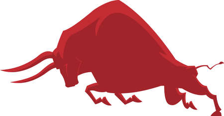 Bull Or Ox Silhouette Symbol Of 2021 Year Of The Ox. Vector Illustration Isolated On Transparent Background