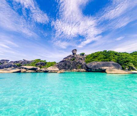 blue turquoise: Landscape similan island thailand blue turquoise Foto de archivo