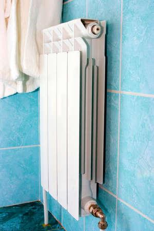 muffle: White radiator Stock Photo