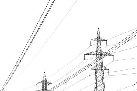 bw: High voltage BW Stock Photo