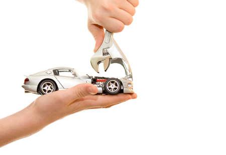auto leasing: Car repair on palm