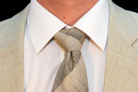 mandate: Coat and tie Stock Photo