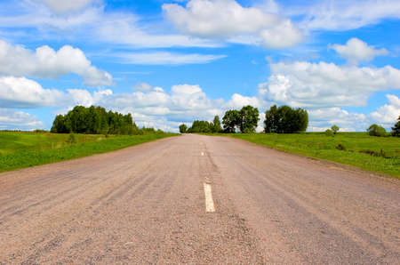 open road: Open road on countryside