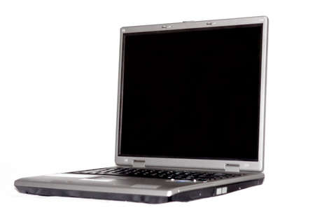 High-end laptop computer isolated on white background photo