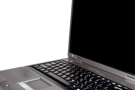 highend: Calcolatore di laptop high-end isolato su priorit� bassa bianca