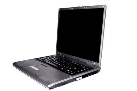 highend: High-end laptop computer isolated on white background Stock Photo