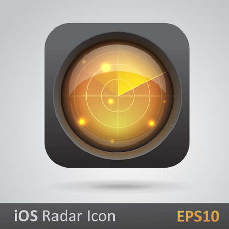 Realistic radar icon vector illustration Vector