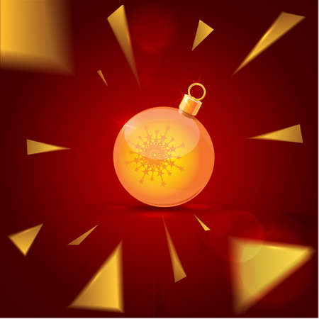 Christmas and New Year background vector illustration Stock Vector - 17775538
