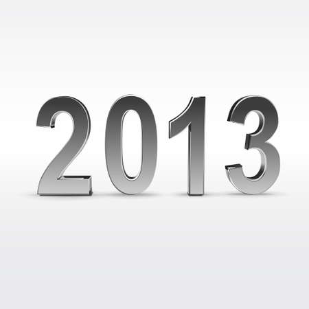 New year 2013 background glossy numbers vector illustration Stock Vector - 17775537