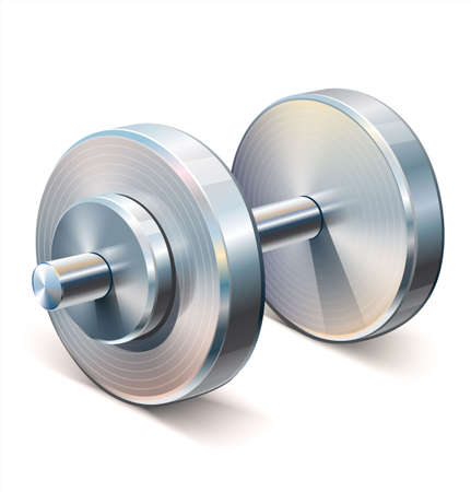 Single dumbbell used in weight lifting and fitness workouts Stock Illustratie