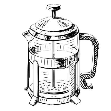 french culture: French press tea pot