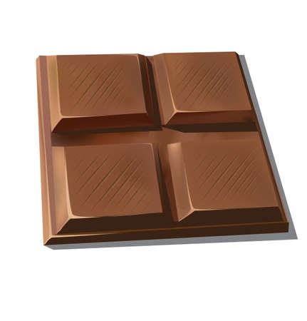 eating chocolate: Sweet chocolate Illustration