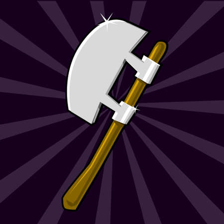 Shining poleaxe icon Illustration
