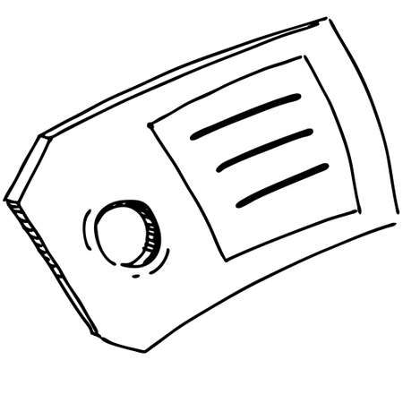 Badge or label symbol Illustration