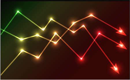 Glowing chart arrows vector illustration Stock Vector - 18010940
